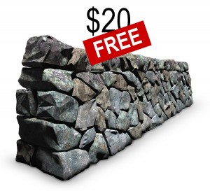 World's best 3D digital model of a dry-stone wall selling for $20 or free when sign-up for our newsletter