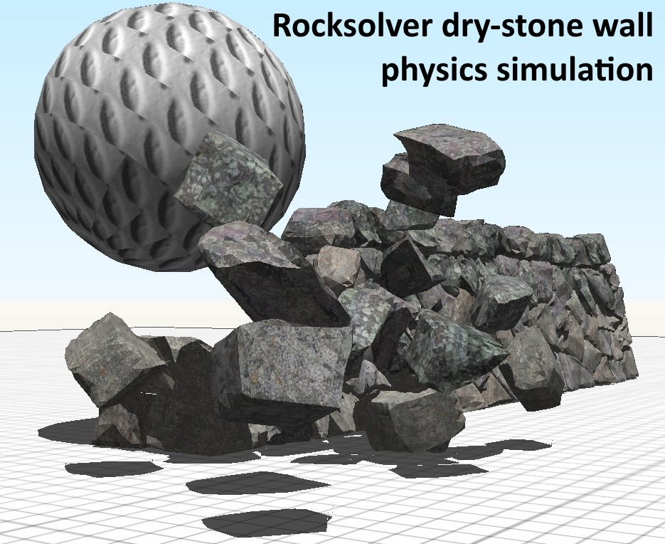 The world's best digital model of a dry-stone wall selling at CGTrader (or the low resolution  model for free in the Intresto collection at 3dwarehouse.sketchup.com)